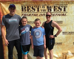 Nicholes Family at the Finish Line
