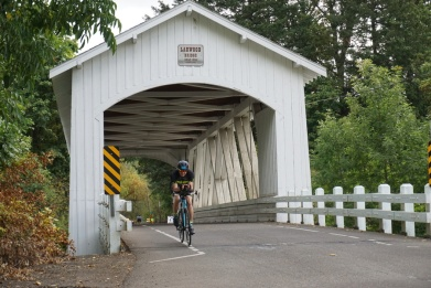 Larwood Bridge, official turnaround point on the Half Iron bike course